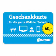 60 Euro Einkaufsgutschein Conrad Electronic