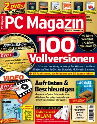 PC Magazin Print-Abo - Wählen Sie jetzt aus drei verschiedenen Varianten (DVD, Super Premium oder XXL)