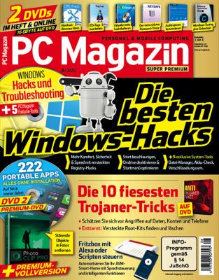 PC Magazin Super Premium XXL mit 2 Heft-DVDs in jeder Ausgabe (inkl. online Zugriff), 1 Jahres-DVD mit den PDF Ausgaben der letzten zwei Jahre sowie eine Prämie Ihrer Wahl.