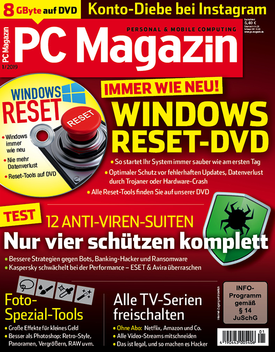 PC Magazin DVD Ausgabe: 1/2019