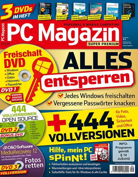 PC Magazin Super Premium XXL mit 3 Heft-DVDs in jeder Ausgabe, 1 Jahres-DVD mit den PDF Ausgaben der letzten zwei Jahre sowie eine Prämie Ihrer Wahl.